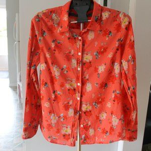 Beautiful J.Crew The Perfect Shirt floral blouse